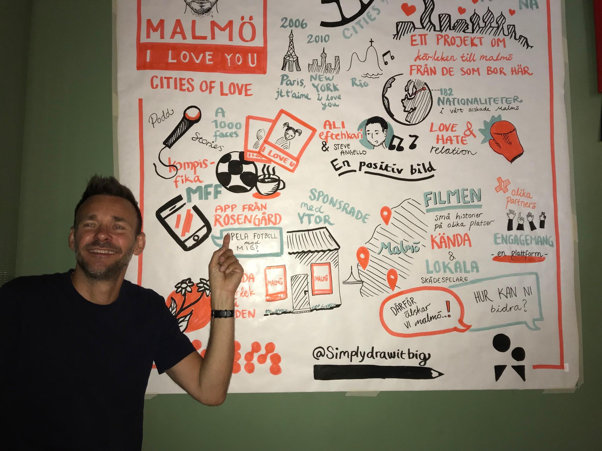 David Carlson från Malmö, I love you på vårt frukostevent 8 juni